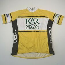 VOmax Yellow 3/4 Zip Short Sleeve Cycling Jersey - Size Large