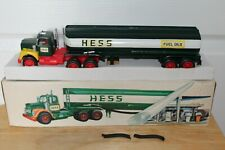 Vintage 1968 Hess Toy Tanker Truck in Original Box w/ Insert Lights Work Great