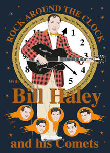 Bill Haley & His Comets - Fifties style poster - (signed) Art Print - Jarod Art