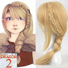 New Movie How To Train Your Dragon 2 Astrid Long Braid Cosplay Wigs for women