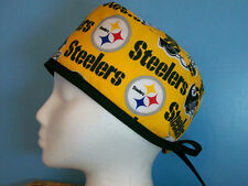 Pittsburgh Steelers Gold NFL Football Scrub Hat Cap Medical Surgical Chef Chemo