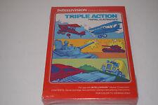 Triple Action Intellivision INTV Game New Sealed Shrinkwrapped!Mattel