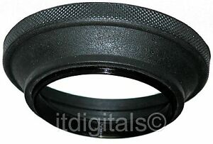 72mm Wide Angle Rubber Lens Hood Sun Shade Screw-in Folding Double Thread Ring