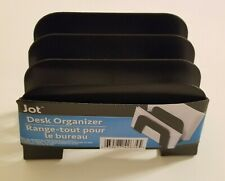 Document Desk Organizer - Black - Plastic