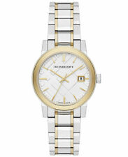Burberry The City BU9115 Silver Gold Two Tone Stainless Steel 34mm Women's Watch
