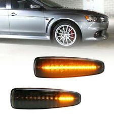 Smoked Sequential Amber LED Side Marker Light For Mitsubishi Lancer Evo X Mirage