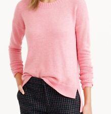 J. Crew Black Label Wool Blend Pink Hi Lo Crew Neck Sweater Sz Large A+++