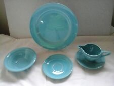 VINTAGE Homer Laughlin Harlequin Fiesta Turquoise Creamer set lot of 5 pieces