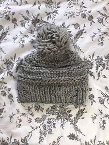 Barts Grey Knit Bobble Hat