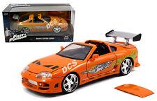 Jada 1:24 Fast & Furious de BRIAN Toyota Supra Orange Voiture Miniature