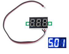 Mini Voltímetro LED Azul Visualización 3 Digits 0-32V 14x22mm 0,28'' 3 Hilo