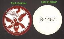 LINKIN PARK licensed, ROUND STICKER stop buying bootlegs Chester Bennington READ