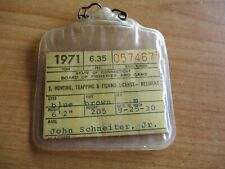 Hunting, trapping, fishing license '71 Connecticut
