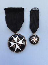 More details for  st john ambulance vintage  medal + miniature -- original
