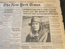 1927 JUNE 17 NEW YORK TIMES - LINGBERGH GREETED BY 700,000 IN BROOKLYN - NT 6281