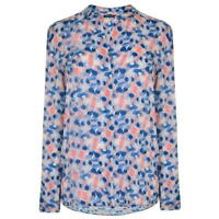 Marc O'Polo Digital Printed Shirt Womens Blouse Blue Pink Size 12 *REF05
