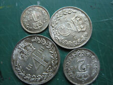More details for set of 4 pieces of victoria 1888 silver maundy money set. toned, in box.