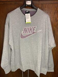 Nike Sportswear Club Fleece Crew Grey Sweater Mens Recycled Sz 2X CU4507-063 New