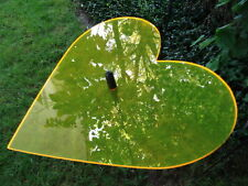 Sonnenfänger Herz gelb mit Stab, 100 cm hoch, Gartendeko, Gartenstecker