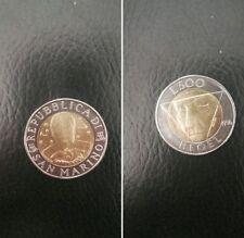 San Marino moneta 500 lire del 1996