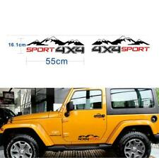 2X Car Off Road Pickup Black AWD 4WD Vinyl 4X4 Mountain Graphics Decal Sticker