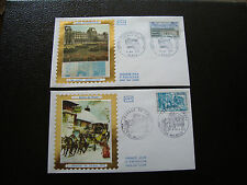 FRANCE - 2 enveloppes 1er jour 1973 (journee timbre/les tuileries) (cy38) french