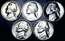 1960 61 62 63 & 1964 GEM PROOF Jefferson Nickel STUNNING 5 Coin Lot   NR