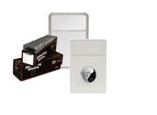 (1) BCW Premium Nickel Display Slab Coin Case with White Foam Insert 21.2mm