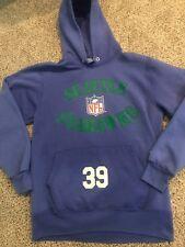 Rare 1993 Champion Mens Seattle Seahawks  39 Hoodie Large L Vintage VTG Blue 49395285a
