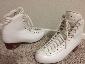 Risport Pro Ice Figure Skate Boots ONLY (No Blades) White 250 US Size 6