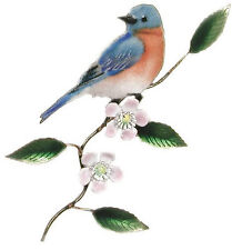 Eastern Bluebird Metal Wall Art Decor Sculpture by Bovano of Cheshire #W4108