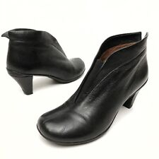 @@ Gentle Souls Kenneth Cole Asaka Mia Slip-on Booties Shoes Black Leather Sz 6M
