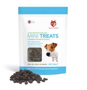 Grain Free Training Treats for Dogs - 80% Fish 20% potato - 100% Natural - 500g