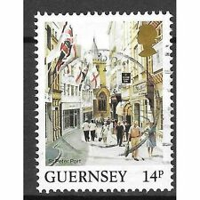 Guernsey 14p stamp for sale - St Peter Port shown - see scan