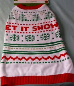 Christmas SM MED Dog Sweaters-Santa/Reindeer/Snow/Ugly/Bone/red white 60%OFF