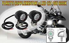 COPPIA FARI FARETTI SUPPLEMENTARI LED 12V 10W 6000K per Moto Guzzi Stelvio 1200
