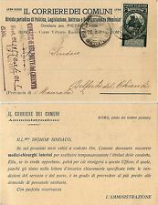 REGNO-2c su 5c(99) su cartolina CORRIERE DEI COMUNI da Belforte 13.7.1913