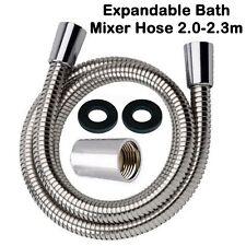 "Bath shower tap mixer hose expandable 2.0 -2.3m pipe 1/2"" conical connector head"