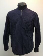 Men's Our Legacy 1/4 Zip Long Sleeve Linen Blend Shirt Size 48 Mother Of Pearl
