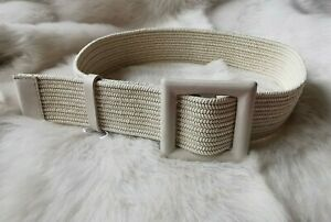 🌟Weekend MAX MARA Colour Ivory 'Pioppo'  braided Cotton-blend Rope BELT  size L
