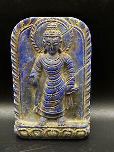 Old Antique Himalayan Art Buddha Statue in lapis Lazuli stone