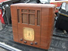 American Bosch 818 Tombstone Tube Radio Battery Shortwave Antique Wood Art Deco
