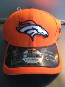 """Denver Broncos"" NFL New Era HAT Orange Adult Size Stretch Fit (L/XL) $29.99 NWT"