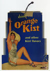 1930s Rolf Armstrong Orange Kist Soda Fountain Advertising Sign Rare Pin-up Orig