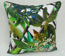 Designers Guild Fabric Cushion Cover 'Canopy' Malachite  Nouveaux Mondes Fabrics