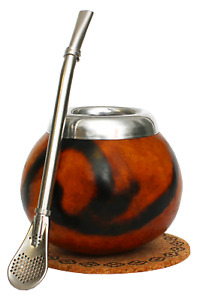 MATE GOURD & BOMBILLA SET / KIT ALL ACCESSORIES TO PREPARE & DRINK YERBA MATE