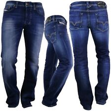 Diesel Jeans Larkee 0860L gerade Herren Hose dunkelblau Stretch Regular neu