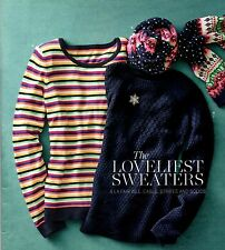 NWT $80 TALBOTS FESTIVE MIXED STRIPES LAMBSWOOL BLEND SWEATER EXTRA LARGE