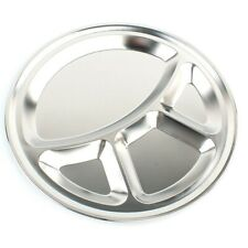 Stainless Steel Round 4 Compartment 35cm Indian Thali  Camping Brand  Plate