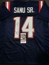 Mohamed Sanu New England Patriots Autographed Custom Style Jersey COA=JSA-